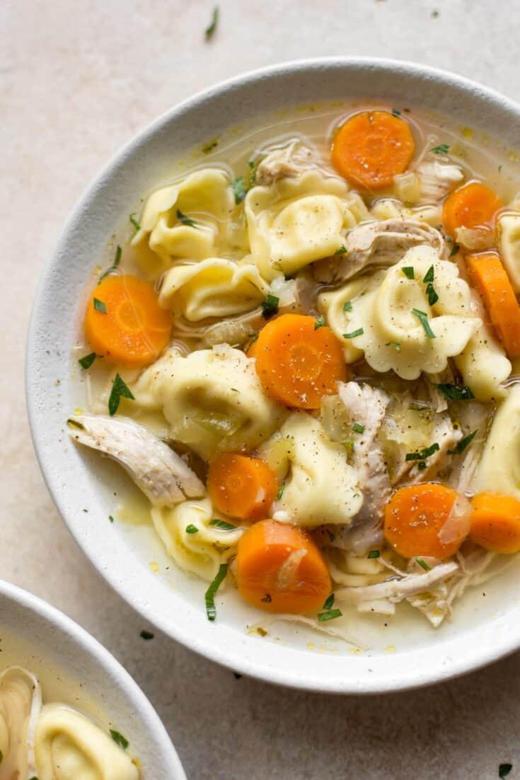 instant pot chicken tortellini soup 2 - Amanda Seghetti