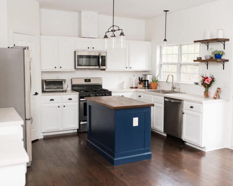 DIY Kitchen Island Upgrade   Kitchen Makeover on a Budget