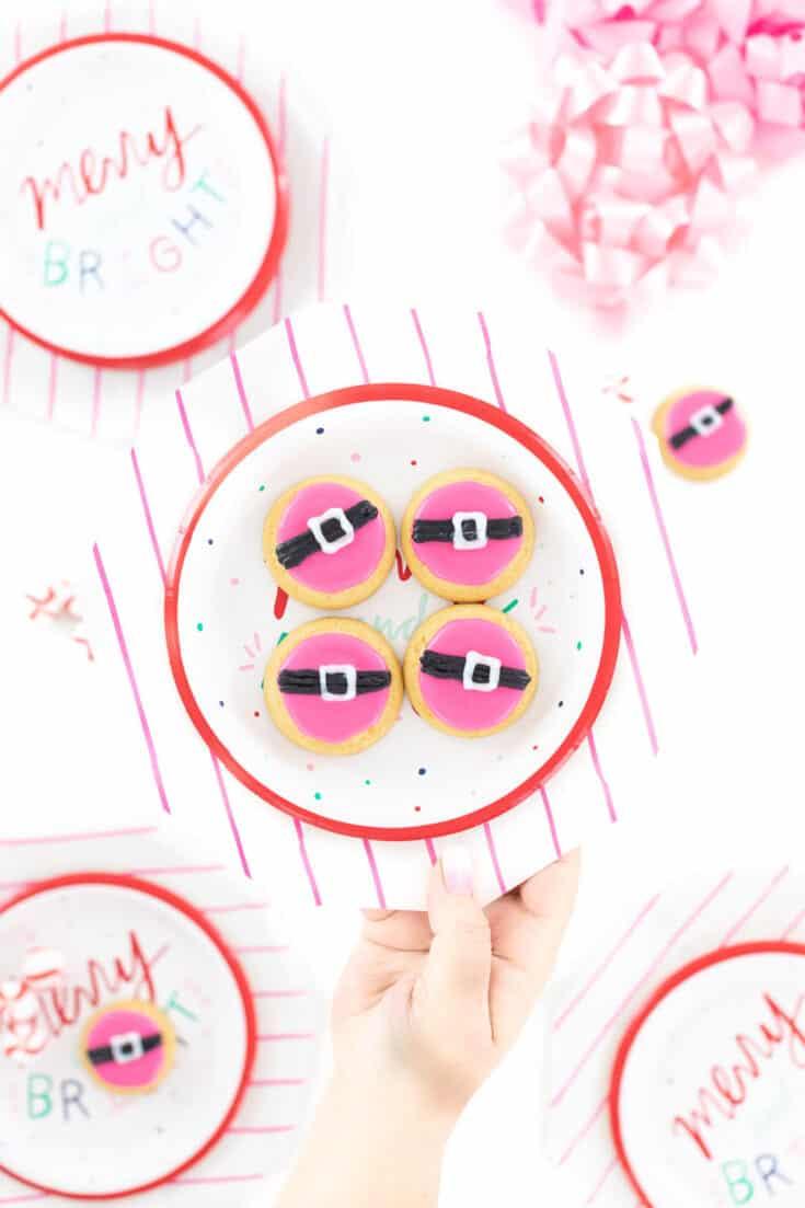 pink santa cookies - Amanda Seghetti