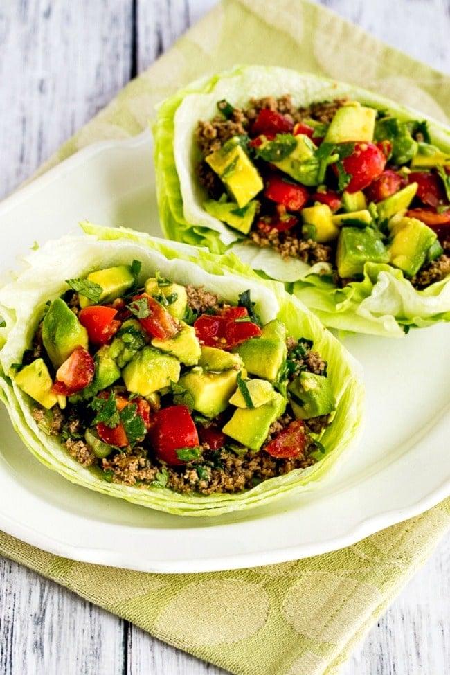 2 650 turkey lettuce wrap tacos kalynskitchen 1 - Amanda Seghetti