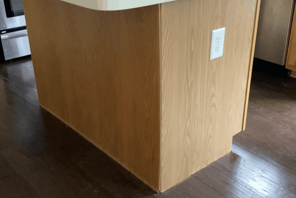 removing trim from kitchen island