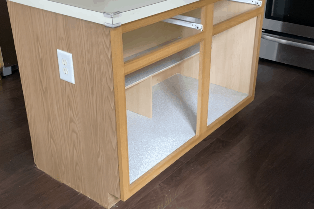 remove doors and drawers from kitchen island