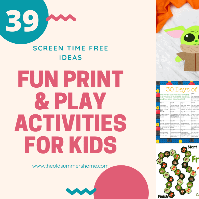 39 Fun Print and Play Activities for Kids