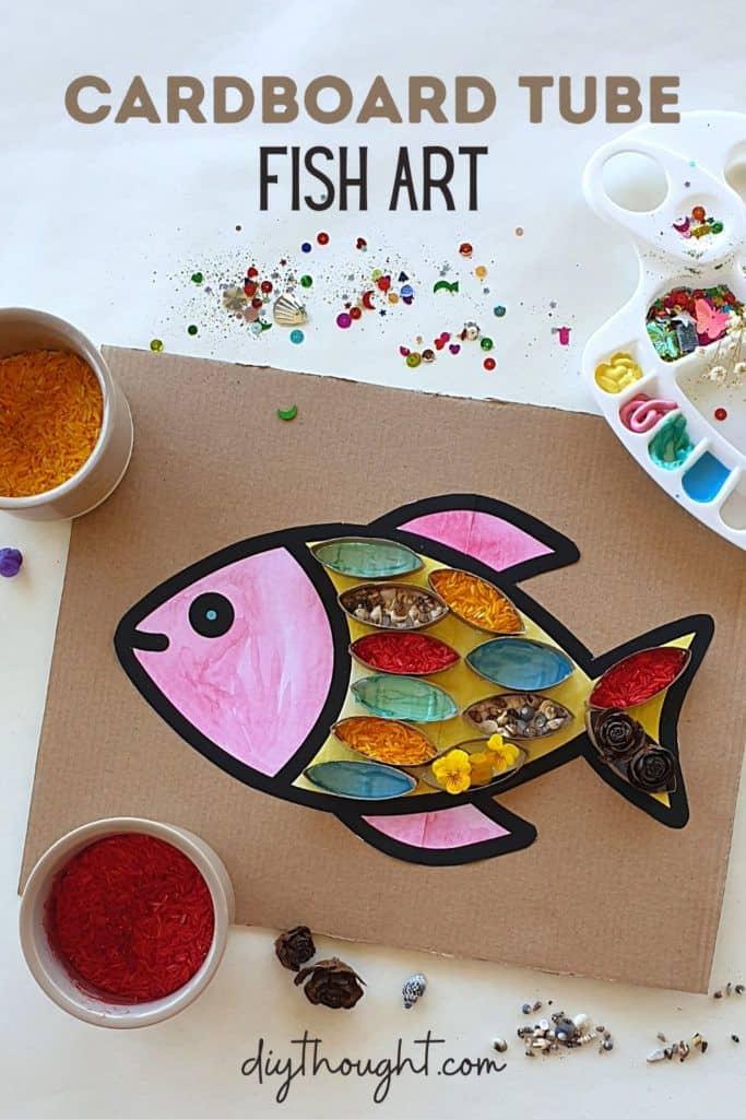 Cardboard tube fish art 1 1 683x1024 1 - Amanda Seghetti