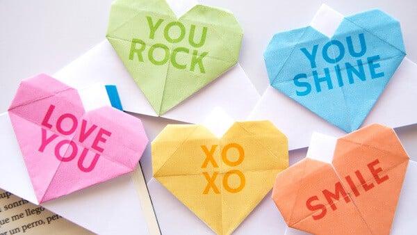 Conversation Hearts Bookmarks - Amanda Seghetti