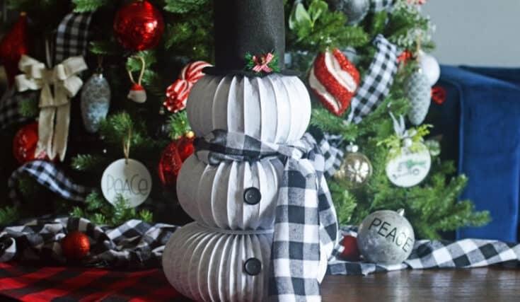 DIY Dryer Vent Snowman Featured Image - Amanda Seghetti
