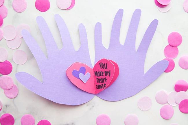 Handprint Valentine Card Cover - Amanda Seghetti