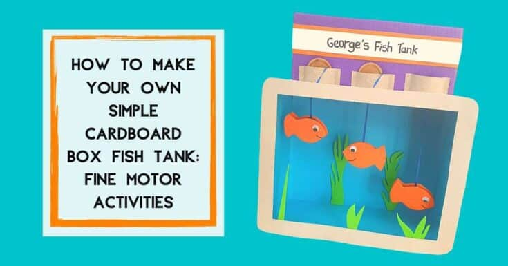 How To Make Your Own Cardboard Box Fish Tank  Fine Motor Activities For Toddlers - Amanda Seghetti