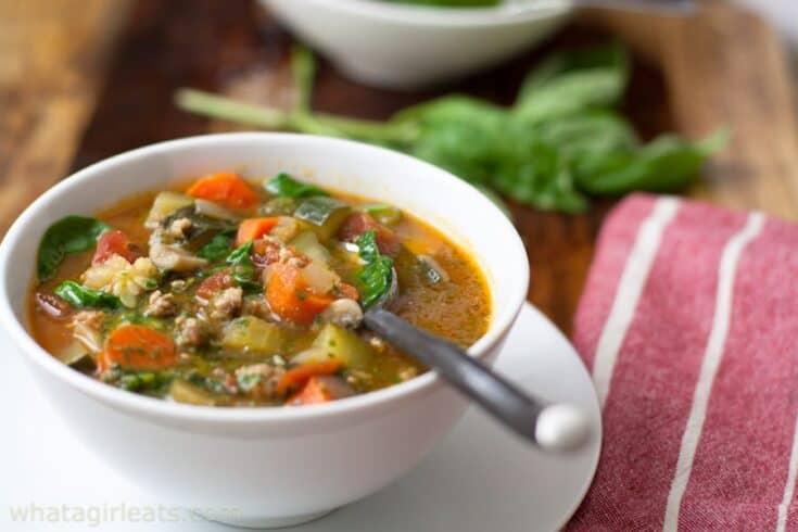 Italian Sausage Soup vertical - Amanda Seghetti