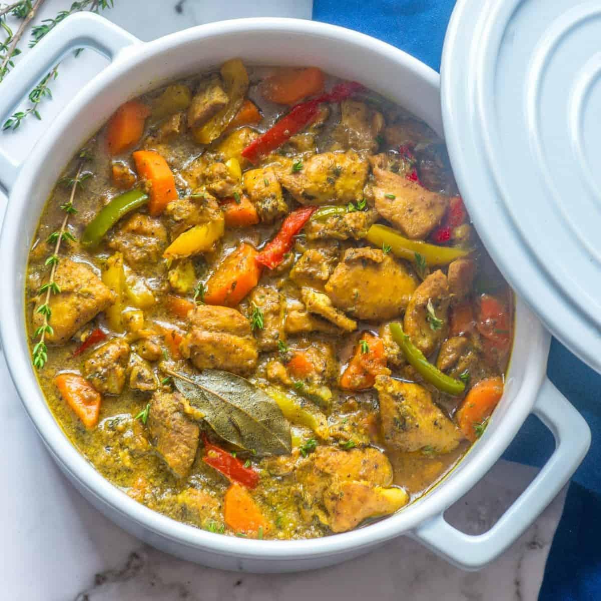 Jamaican Coconut Curry Chicken image - Amanda Seghetti