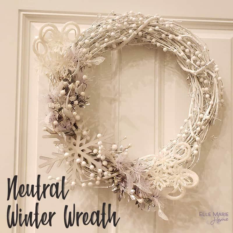 neutral wreath winter crafts