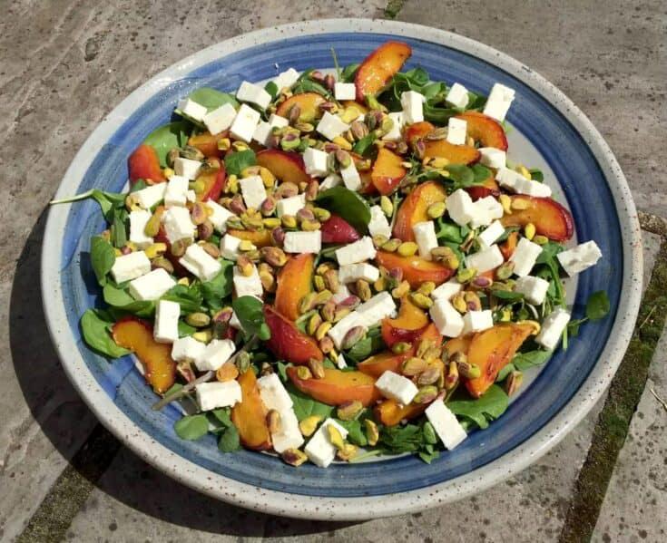 Peach Feta Pistachio Salad4 - Amanda Seghetti