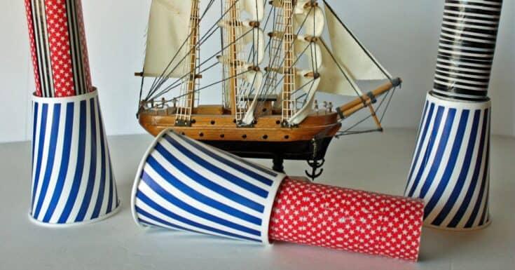 Pirate Spyglass Craft Tutorial Social - Amanda Seghetti