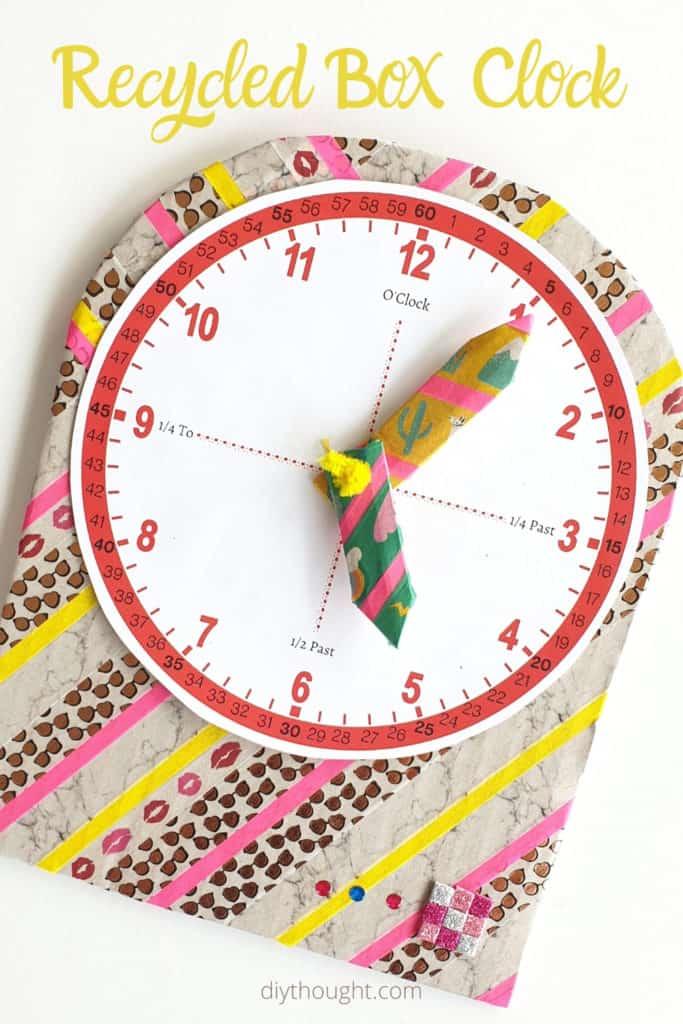 Recycled Box Clock craft 1 1 683x1024 1 - Amanda Seghetti