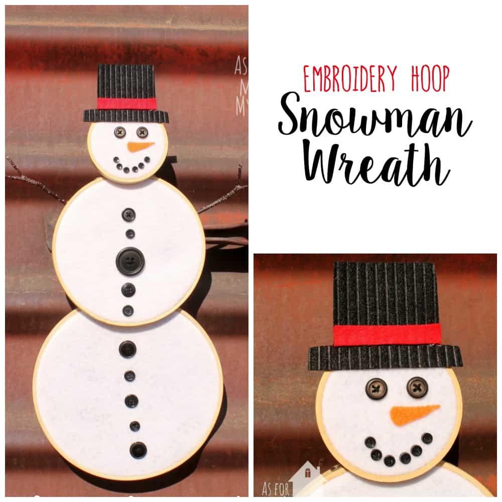 Snowman Wreath Square - Amanda Seghetti