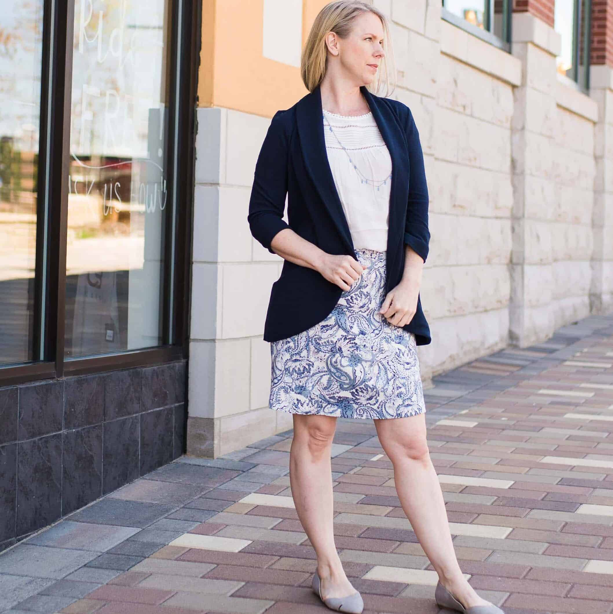 Blazer with Stitch Fix outfit as graduation outfit for moms