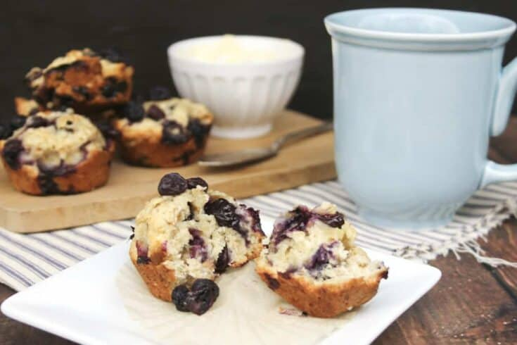 blueberry oat muffins recipe - Amanda Seghetti