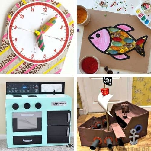 25 Fun Cardboard Crafts, Games & Activities for Kids