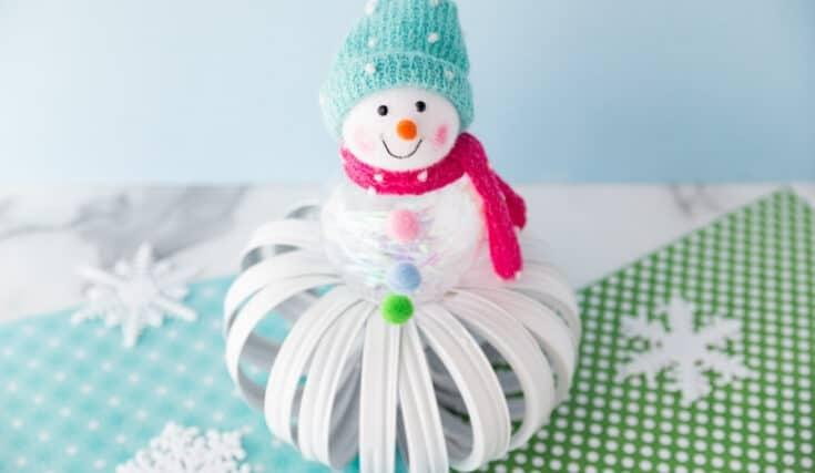 mason jar lid snowman featured image - Amanda Seghetti