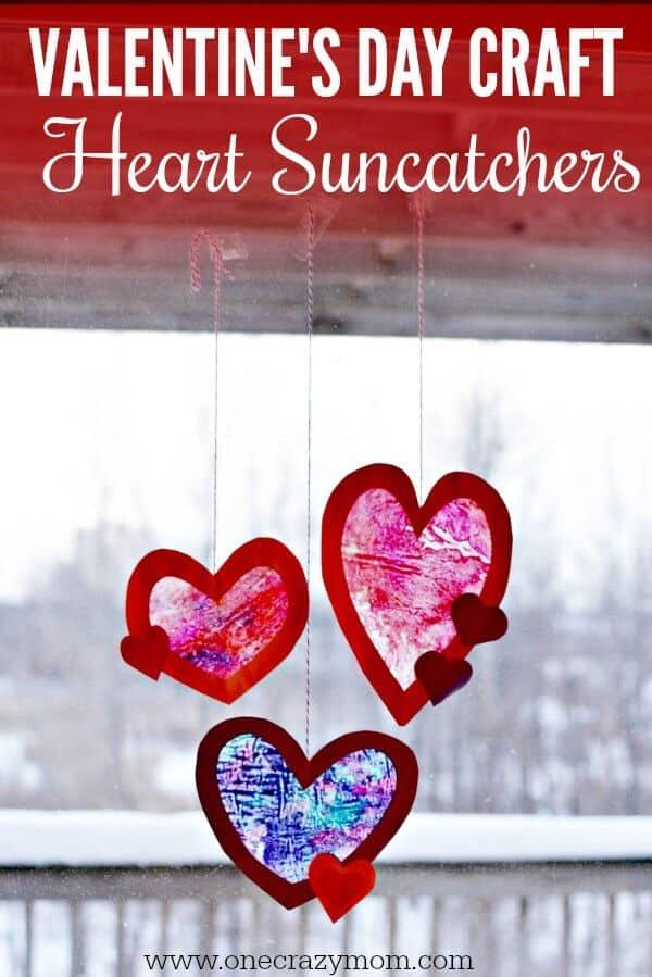 valentine day craft heart suncatchers - Amanda Seghetti
