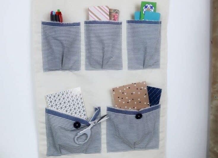 DIY hanging pocket organizer social - Amanda Seghetti