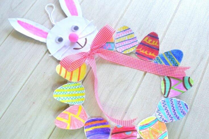 Easter Egg Wreath Craft Activity for Kids - Amanda Seghetti
