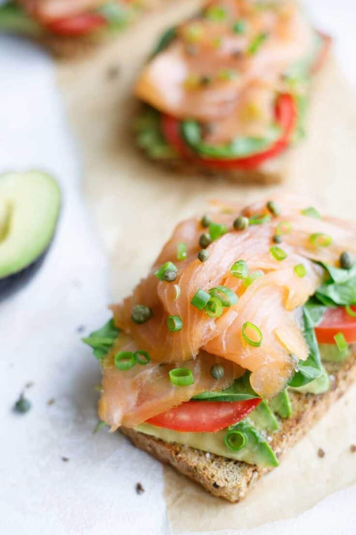 Healthy Avocado Toast with Smoked Salmon Recipe - Amanda Seghetti