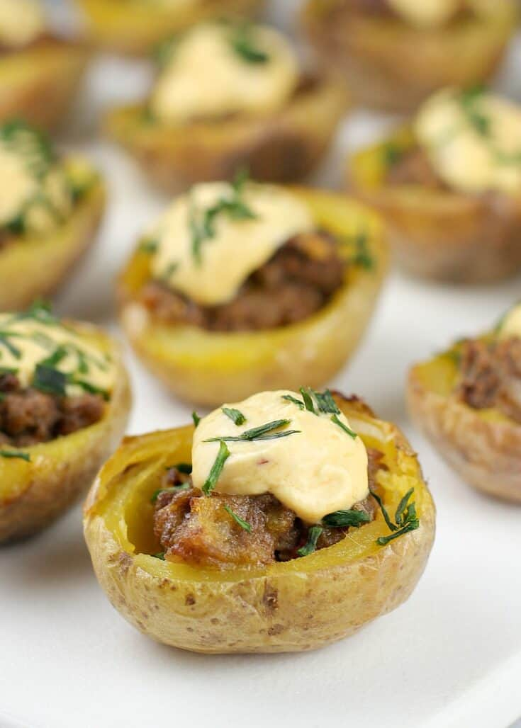 Mini Cheeseburger Potato Bites 3a - Amanda Seghetti