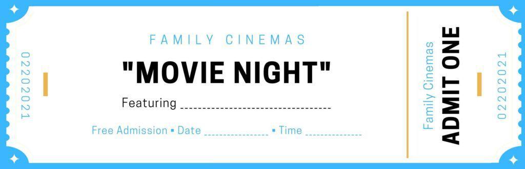 Printable Movie Ticket