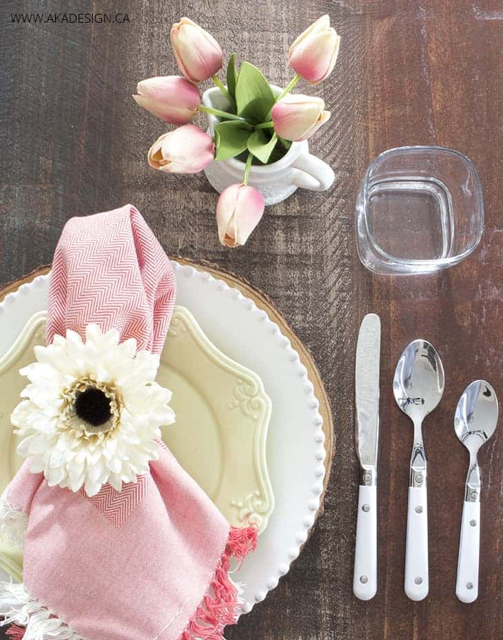 Pink and mint easter table setting - Amanda Seghetti