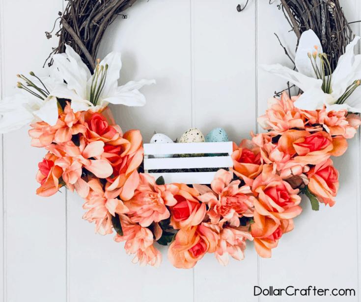diy easter grapevine wreath - Amanda Seghetti
