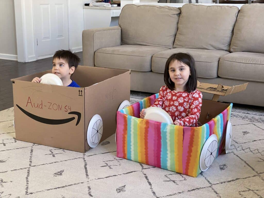 movie night ideas with cardboard cars and drive in movie night at home