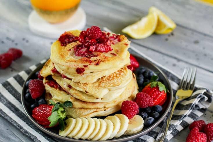 raspberry lemon pancakes 7 - Amanda Seghetti
