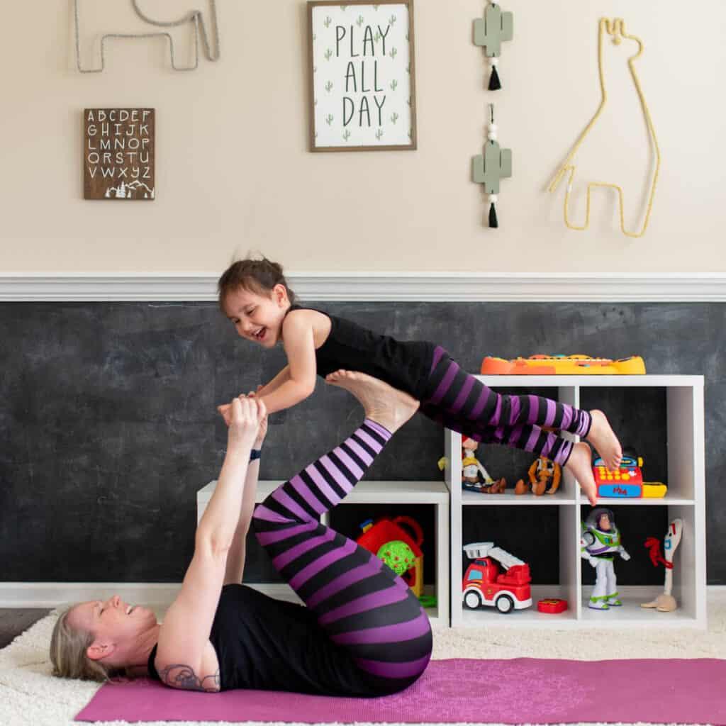 mom and kid yoga poses