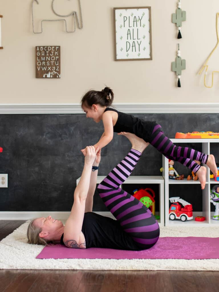 Mom and Kid Yoga