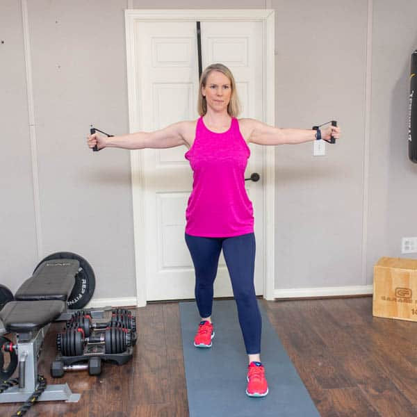 resistance band chest fly 1