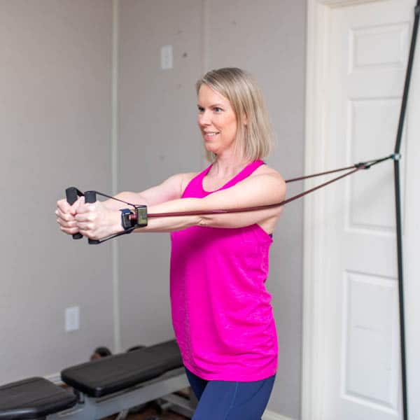 resistance band chest fly 2