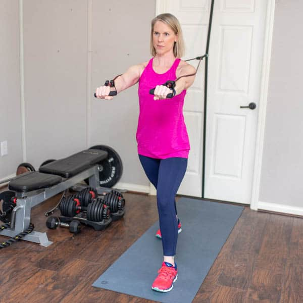 resistance band chest press 2