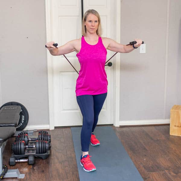 resistance band incline chest press 1