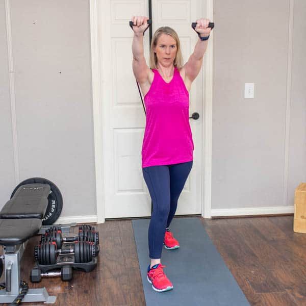 resistance band incline chest press 2