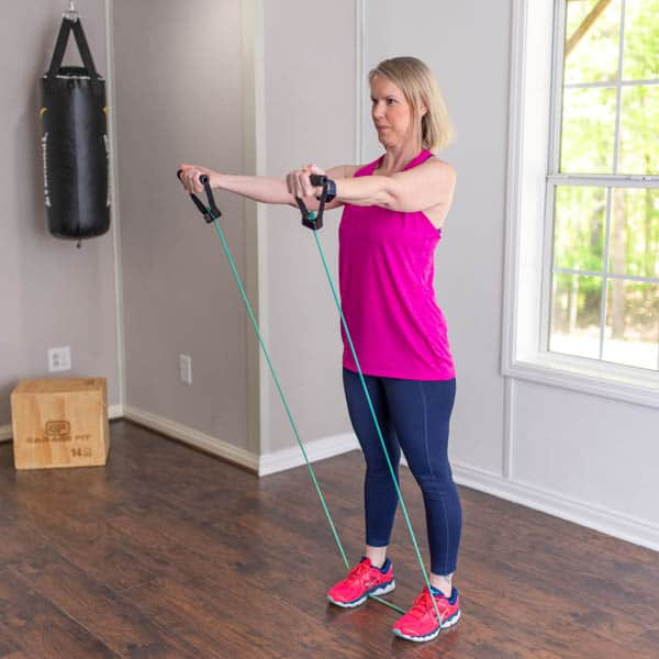 resistance band reverse grip chest fly 2