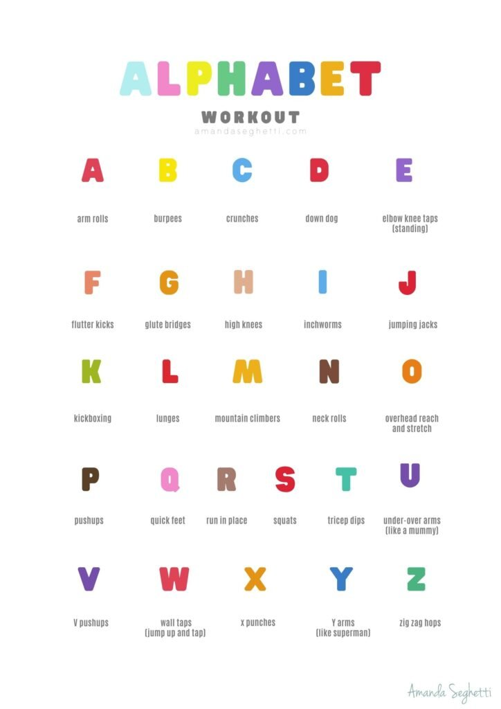 Alphabet exercises from a to z