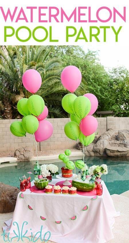 HERO watermelon pool party - Amanda Seghetti