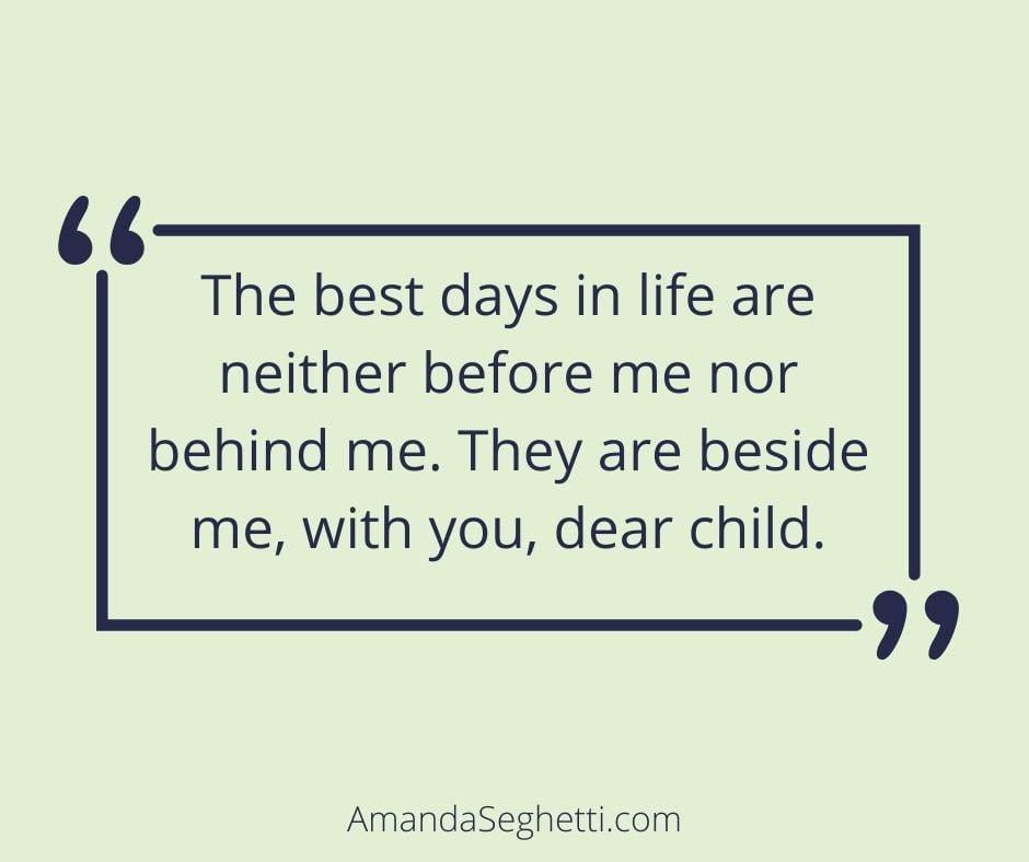 best days love quote - Amanda Seghetti
