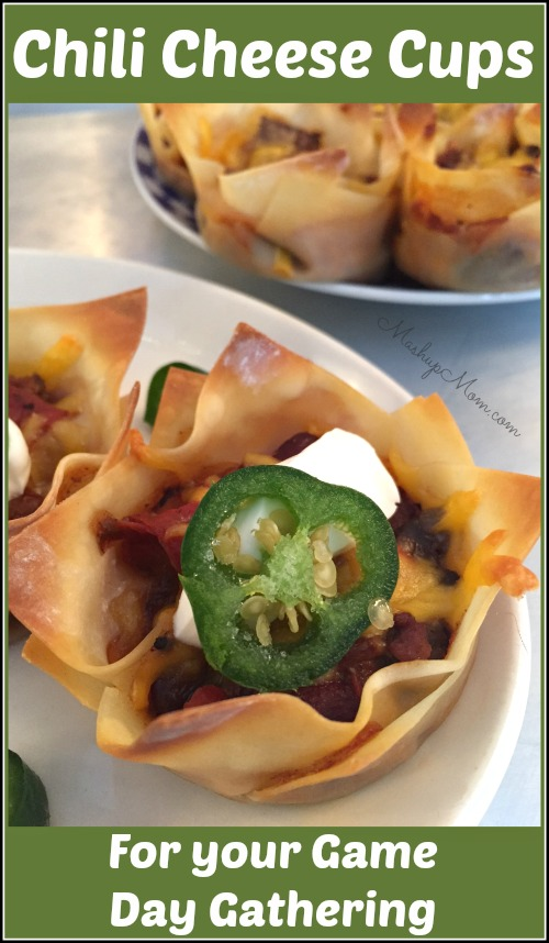 chili cheese cups for your game day gathering - Amanda Seghetti