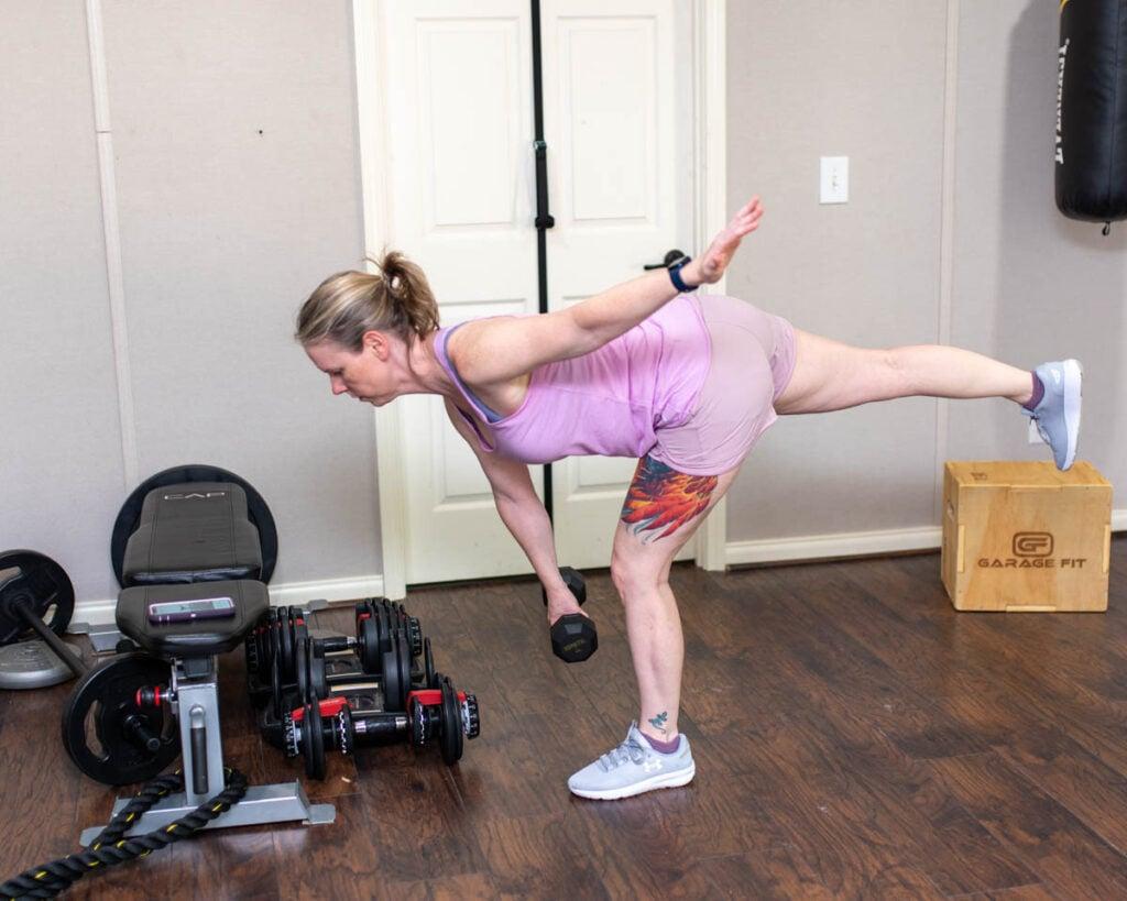 single leg deadlift exercise