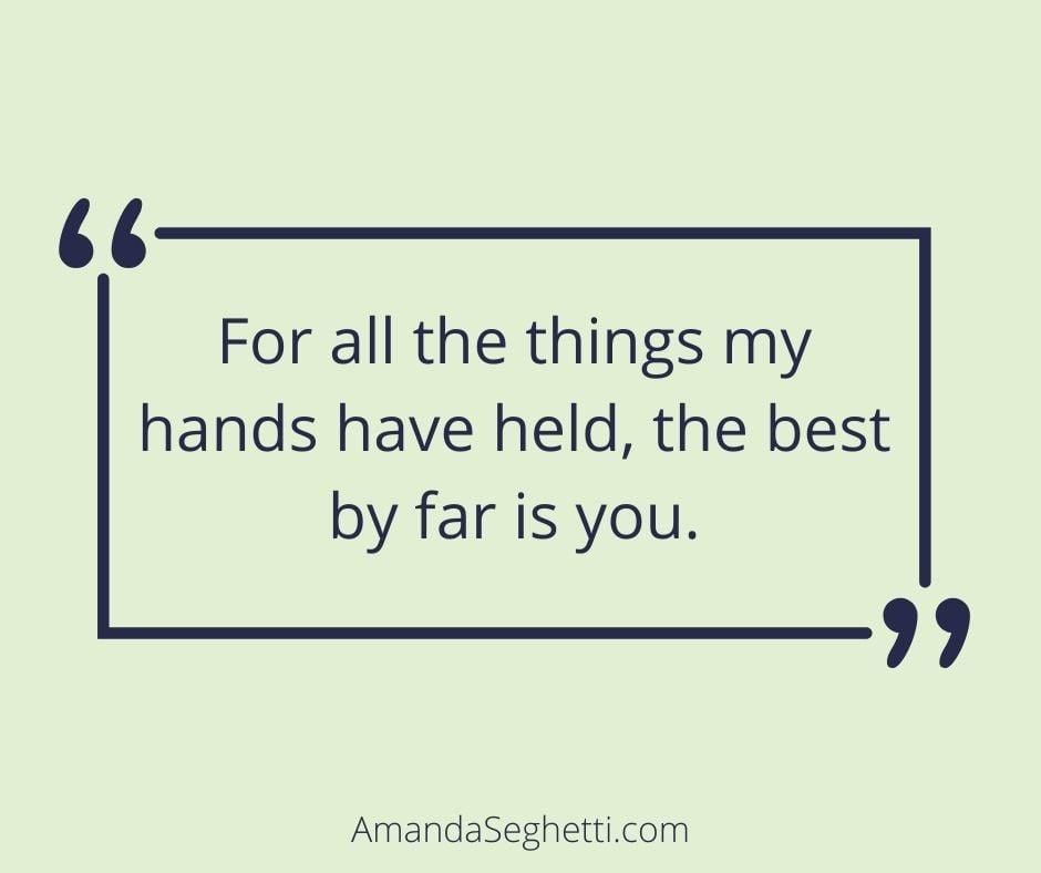 the best is you love quote - Amanda Seghetti