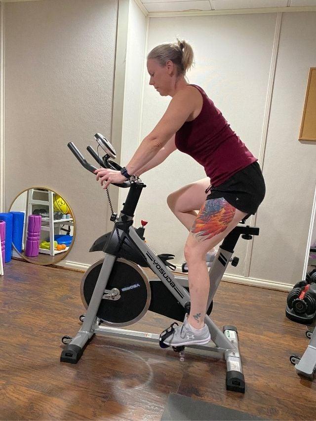 amanda seghetti riding indoor bike