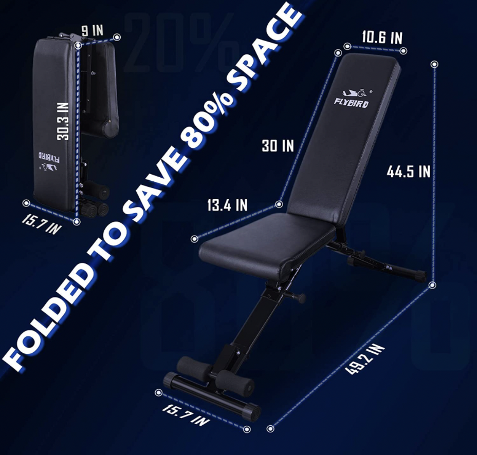 Flybird foldable weight bench