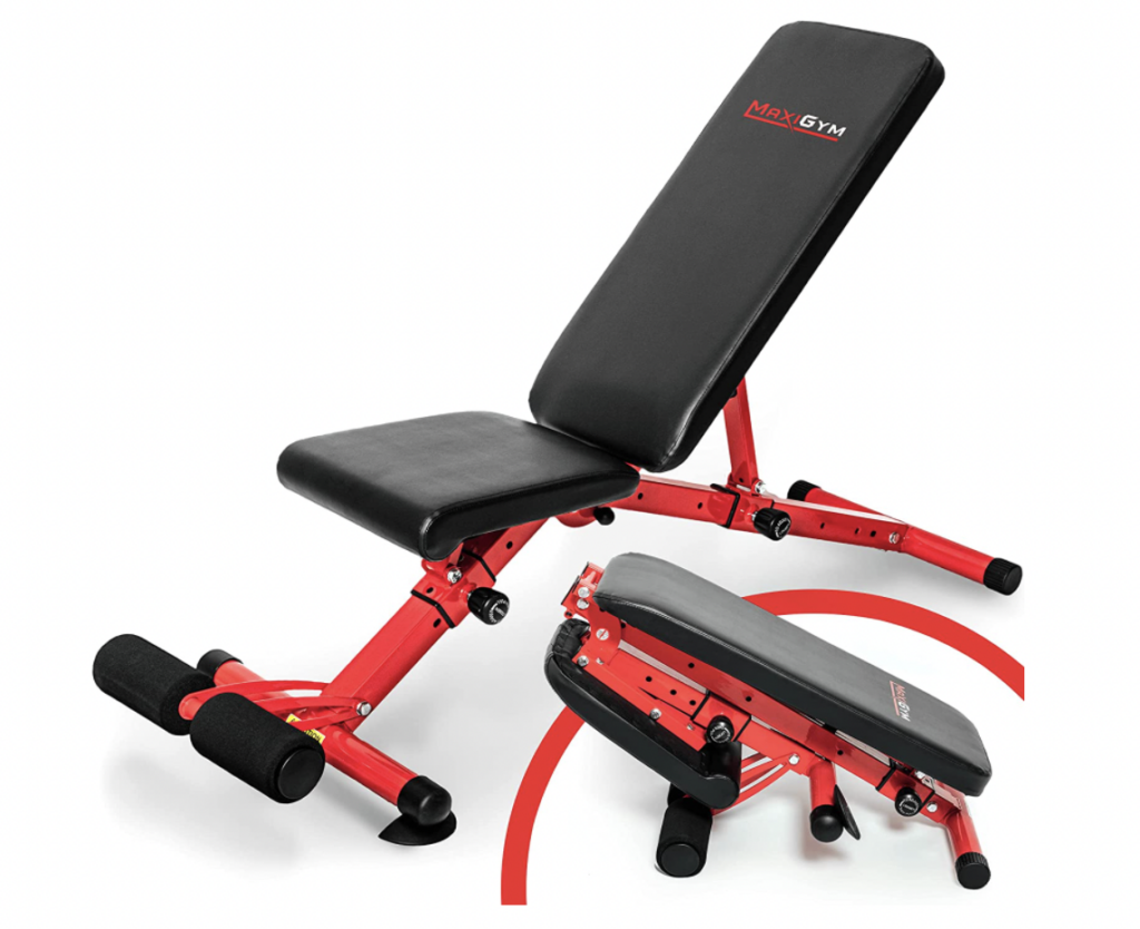 MaxiGym adjustable foldable weight bench